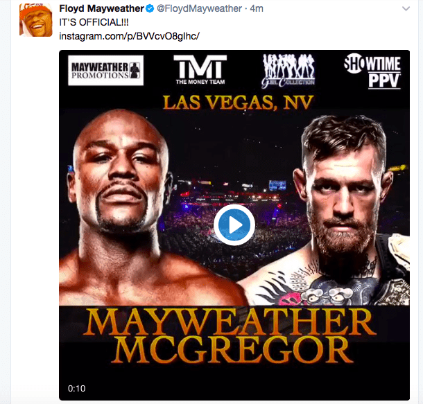 Have A Look At Betting Odds On Mayweather-McGregor