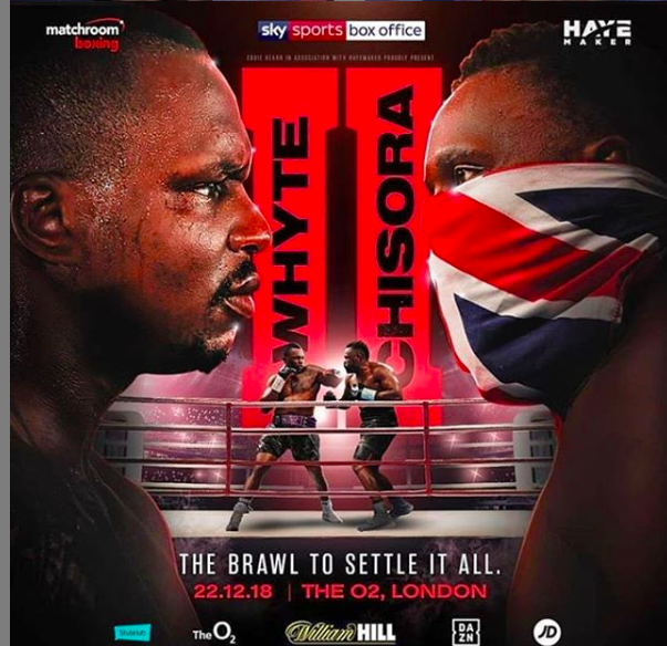 Dillian Whyte versus Dereck Chisora is a rematch of a solid heavyweight rumble and the winner could get a grand opportunity, in the form of a fight with Anthony Joshua.