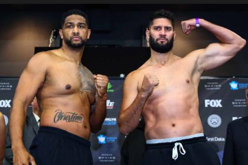 Dominic Breazeale and Carlos Negron battled Dec. 22 in Brooklyn.