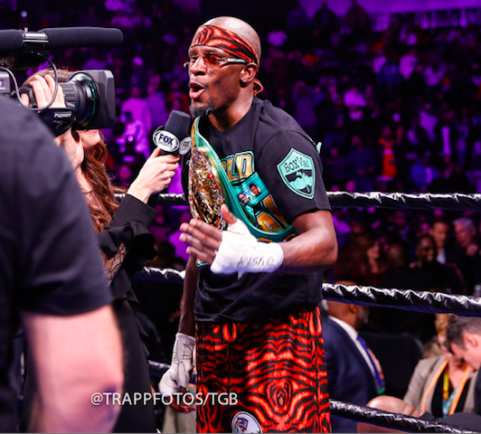 Tony Harrison was sky high after he won a decision over Jermell Charlo at Barclays Center on Dec.22, 2018, in Brooklyn, and on FOX.