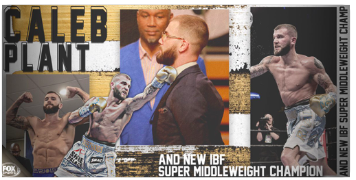 Caleb Plant scored the IBF super middleweight title when he downed champ Jose Uzcategui on Jan. 13, 2019, in LA.