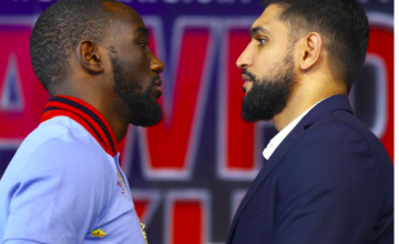 Crawford vs Khan, on ESPN pay per view.