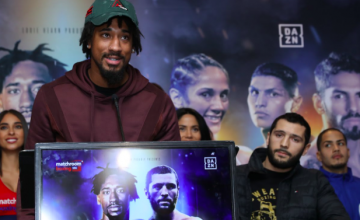 Demetrius Andrade fights Artur Akavov at the MSG Theater on Jan. 18, 2019.