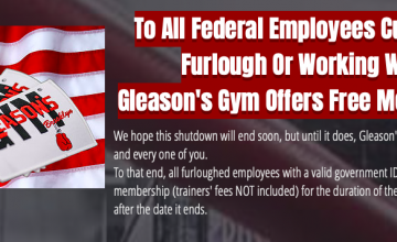 Gleason's Gym is offering free workouts to government workers affected by the shutdown.