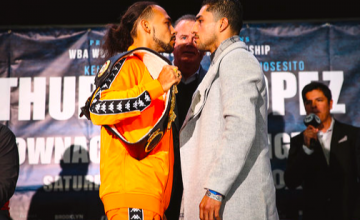 Keith Thurman faces off with Josesito Lopez on Thursday, two days from their feature fight at Barclays Center.