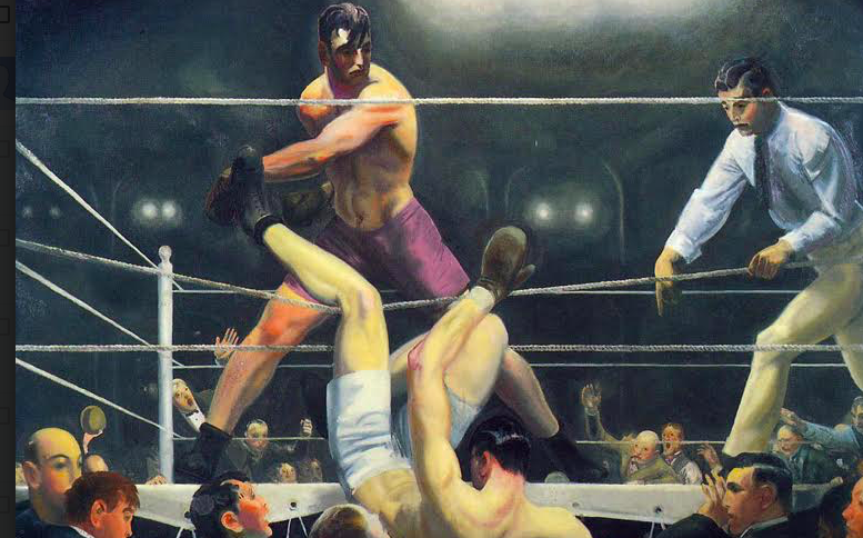 The Dempsey v Firpo war was memorialized by Bellows.