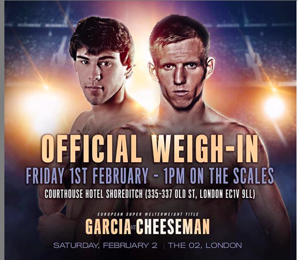 Sergio Garcia fights Ted Cheeseman on Saturday, Feb. 2.