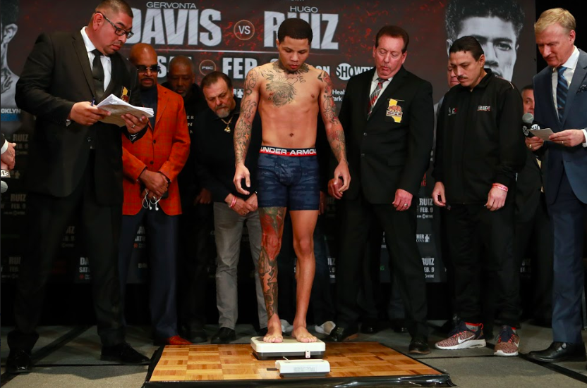 Gervonta Davis was two ounces over making weigh on Feb. 8.
