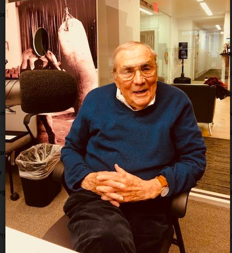 """Art Loveley, age 90s, has been a guest two times on the Everlast """"Talkbox"""" podcast."""
