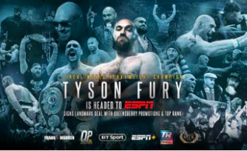 Tyson Fury signed on with Bob Arum and Top Rank.