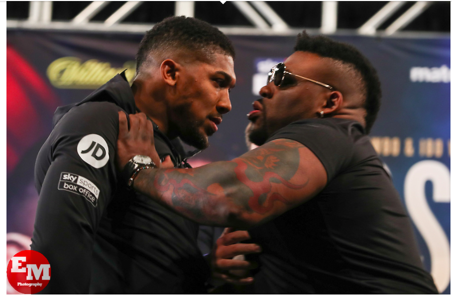 Jarrell Miller and Anthony Joshua got into it at the Tuesday press conference to hype their June 1 clash.