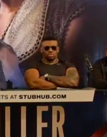 """""""Big Baby"""" Miller offered up a profane and edgy performance on Tuesday, at the NY press conference to hype the June 1 fight versus Anthony Joshua."""