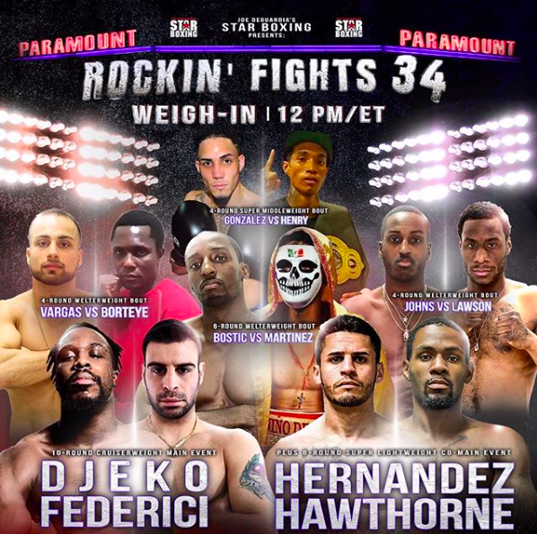 Facebook Fightnight Live is back Friday, Feb. 22, 2019, in NY.
