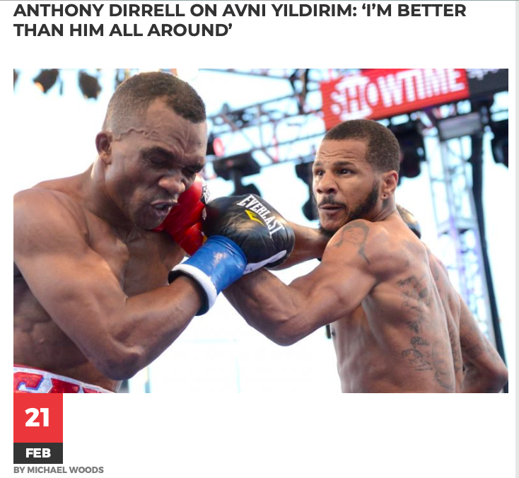 Anthony Dirrell is favored to beat Turk Avni Yildrim on FS1, on Feb. 23.
