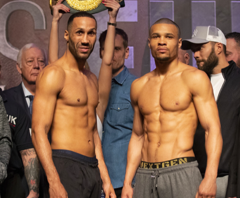 James DeGale and Chris Eubank Jr make weight for their Feb. 23 fight.