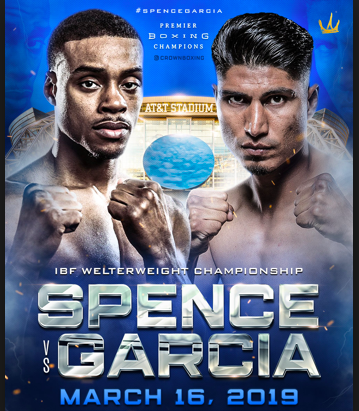 Errol Spence fights Mikey Garcia on March 16, 2019.