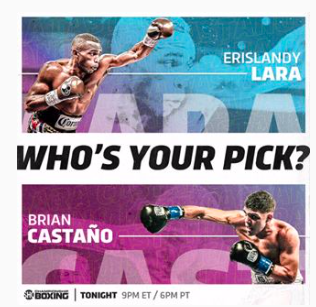 Lara fights Castano on Saturday, March 2, 2019, at Barclays Center.
