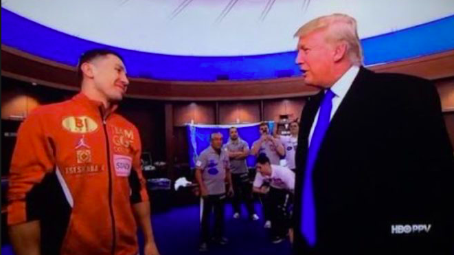 Gennady Golovkin and Donald Trump.