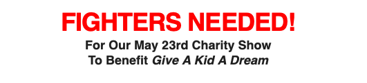On May 23, Gleason's Gym is running a card to benefit the Give A Kid A Dream charity.