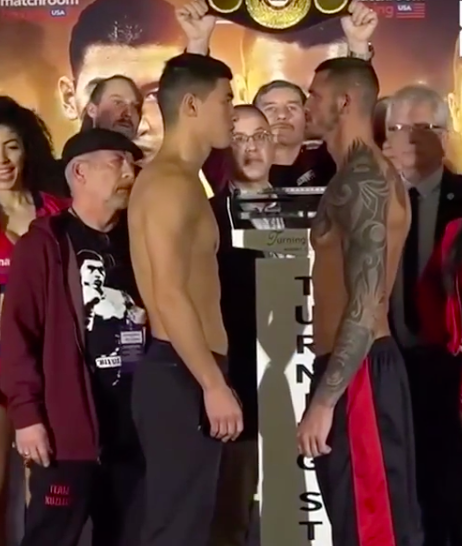 Dmitriy Bivol stares down Joe Smith, the underdog, in a light heavyweight title defense for Bivol.