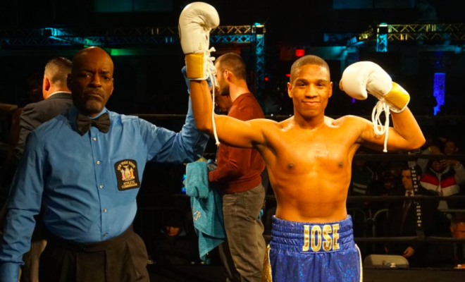 Jose Gonzalez scored a KO1 win in Queens, ion Fightnight Live.