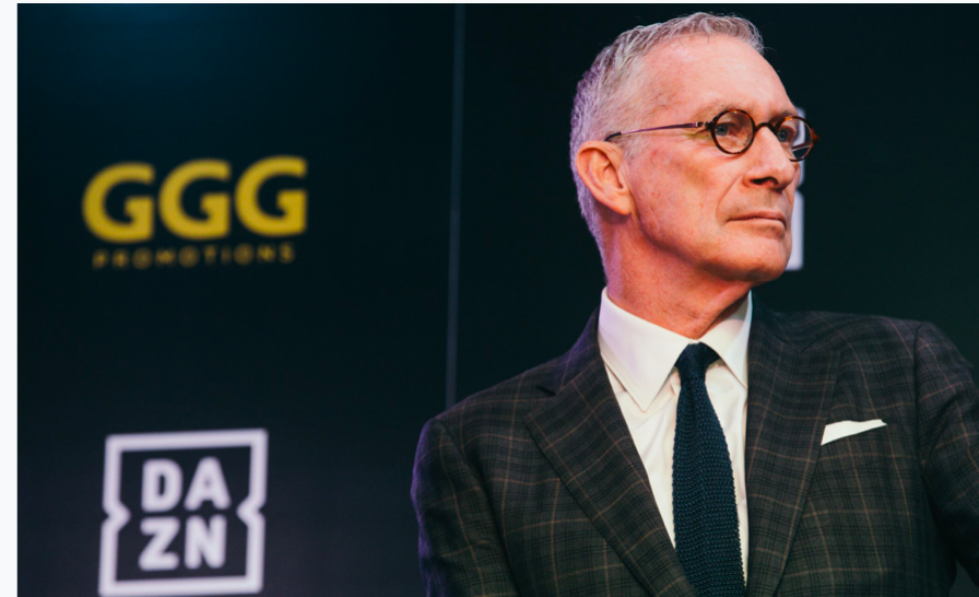DAZN chairman John Skipper at Monday presser to hype the GGG signing.