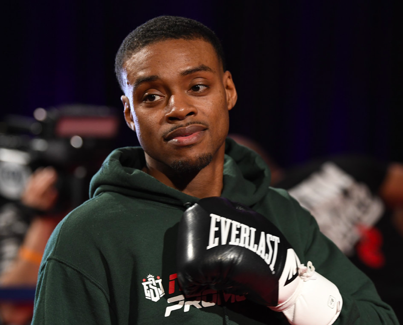 Errol Spence counts down to his March 16 scrap against Mikey Garcia, and greets press at Tuesday grand arrival