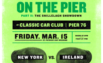 A Pummeling at the Pier is a boxing card to benefit Cops and Kids gyms in NY.