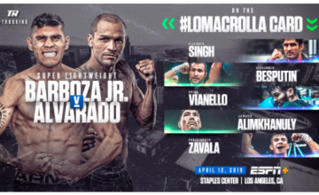 Arnold Barboza Jr is on the April 12 Lomachenko vs Crolla card.