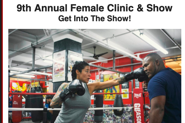 Gleason's Gym has a women's clinic running April 11-13.