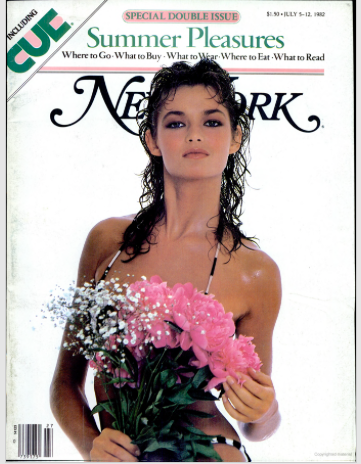 Colleen Kaehr on the cover of a 1982 NY Mag.