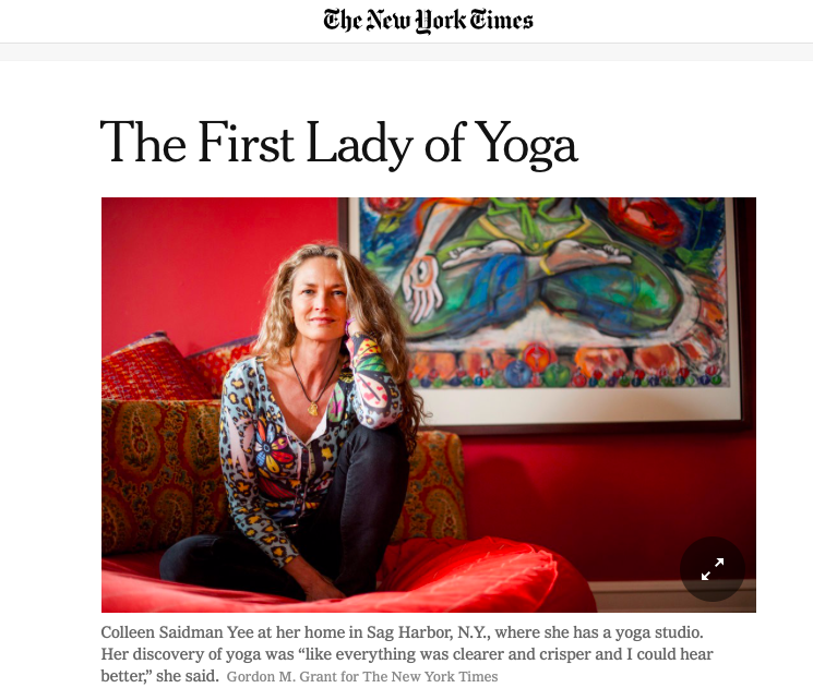 Colleen Saidman Yee in the NY Times, in 2013.