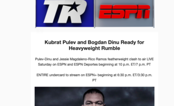 Kubrat Pulev makes his Top Rank debut on Saturday, March 23.