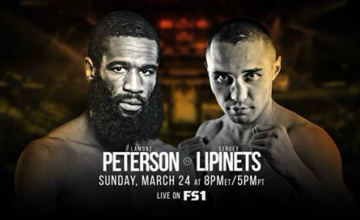 Lamont Peterson is nearing the end of the line and Sergey Lipinets might usher him over the line.