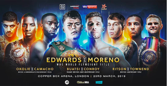 Charlie Edwards tops a card in England on March 23.
