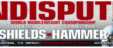 The undercard for the April 13 Shields-Hammer card was announced.
