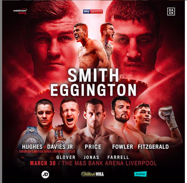 Liam Smith is the A side in England and on DAZN March 30, 2019.