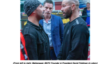 Paul Malignaggi slapped Artem Lobov at a media event in NYC, on April 2, 2019.