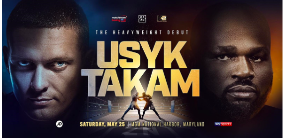 Usyk steps up to heavyweight and Takam is a solid test.