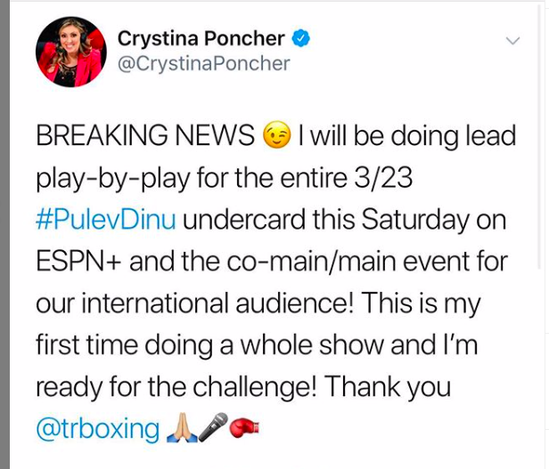 Poncher did blow by blow for the Top Rank Pulev-Dinu card.