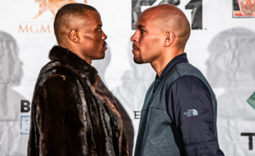 Peter Quillin and Caleb Truax stare into each others' souls.