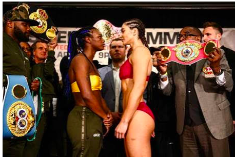 Shields and Hammer made weight on April 12 for their April 13 fight in AC.