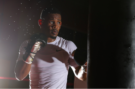 Danny Jacobs did a media workout on Monday, April 15.
