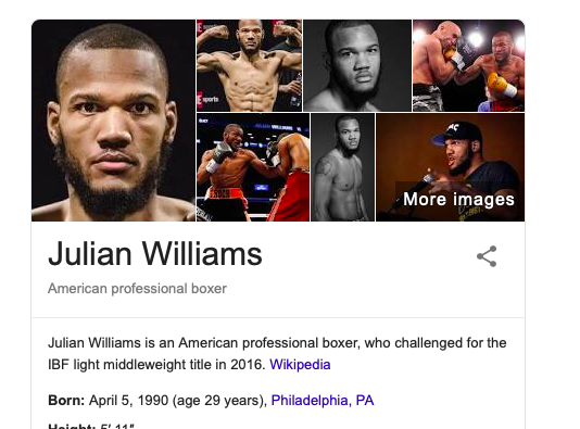 Julian Williams says he is quite confident he will get the W over Jarrett Hurd on May 11.