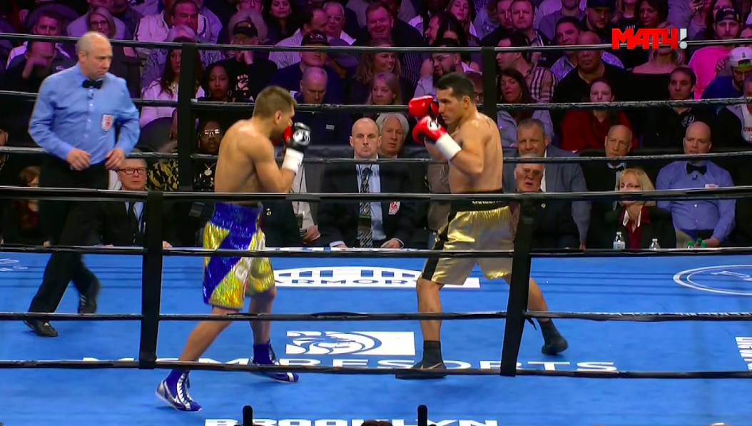 Culcay, in gold trunks on the right, made it closer than most all expected.