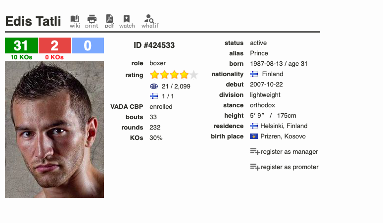 Edis Tatli is a heavy underdog versus Lopez April 20; he likely doesn't have the power to keep the prospect off of him.