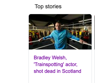 Bradley Welsh was shot and killed in Scotland but he left a legacy of love.