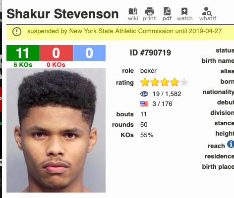 Shakur Stevenson is perhaps following in the footsteps of Floyd Mayweather.
