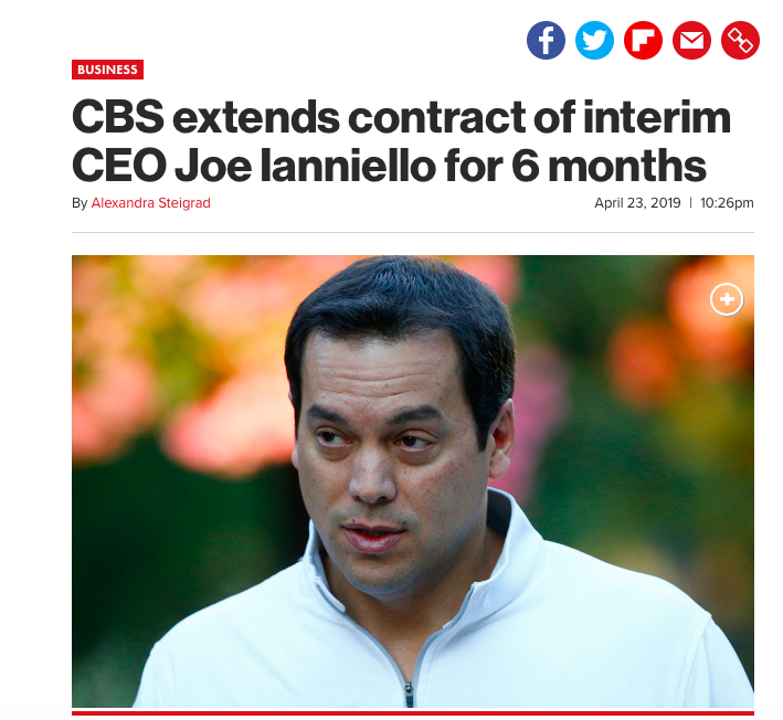 Joe Ianniello is the CEO of CBS, after Les Moonves was dumped. Boxing fans hope Ianniello likes boxing.