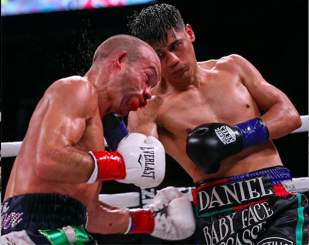 Roman-Doheny impressed fight watchers who dug the volume and grit on DAZN. Ed Mulholland pic